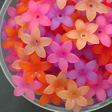 Acrylic Flower Beads, Mix Matte Colors, 17mm x 4mm