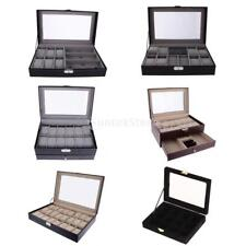 Multi Compartments Grids Rings Cuff Links Earrings Watch Jewelry Display Storage