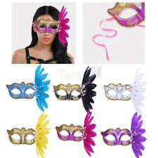 Feather Eye Mask Masquerade Halloween Fancy Costume Prom Party Christmas Mask