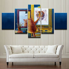 Cat Self-Image Tiger Painting Modern  Abstract Poster Canvas Wall Art Home Decor