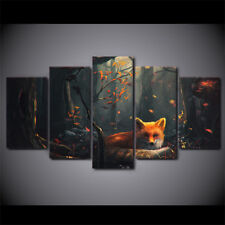 Animal Fox Abstract Modern Painting Poster Picture Canvas Wall Art Home Decor