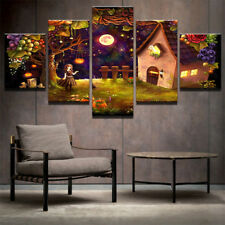 Halloween Abstract Modern Painting Poster Pictures Canvas Wall Art Home Decor