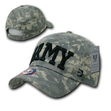 US Army Text ACU Digital Washed Cotton Camo Camouflage Military Caps Hats