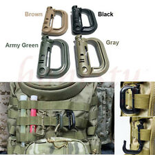 1/5/10Pcs Military Products EDC Grimloc Molle Locking D-ring Webbing Buckle