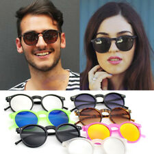 Unisex Retro Fashion Vintage Mens Womens Round Glasses Sunglasses Eyewear Shades