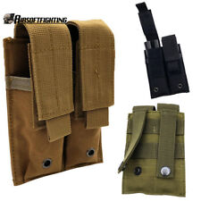 Tactical Double MOLLE PALS Dual Pistol Magazine Pouch Holster M9 1911 9mm 45
