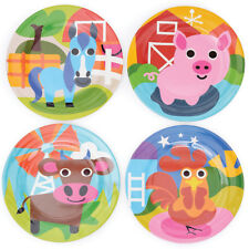 NEW French Bull farm collection kids' plate by Until