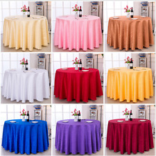 60''-120'' Round Polyester Tablecloth Cover for Wedding Party Banquet Table 2017
