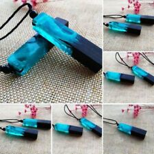 NEW HOT Selling Handmade Blue Resin Wood Pendant Sweater Necklace Jewelry Gift