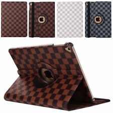 360 Rotating Luxury Grid Leather Smart Case Stand Cover For iPad Pro / Air /Mini
