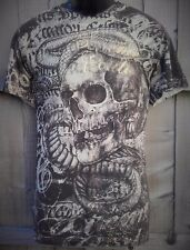 """AFFLICTION """"TOOTHACHE"""" Xtreme Couture Skull Snake MEDIUM T shirt NEW UFC Tee"""