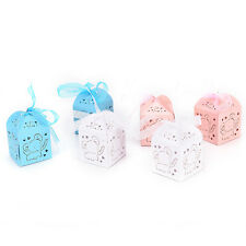 10pcs Elephant Laser Carriage Favors Box Gifts Candy Boxes Party Supplies AB
