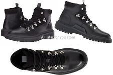 Calvin Klein Mens Raymon Smooth Leather Casual Boots Black Orig$170