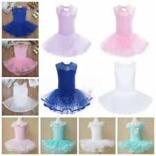Girls Toddler Kid Ballet Dress Sleeveless Ruffle Tulle Skirt Leotard Dancewear