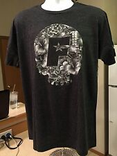 NEW Famous Stars and Straps Skull Bloom Mens Premium Tee T shirt Dk Gray