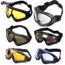 1X CS Airsoft Goggles UV400 Wind Dust Protection Tactical Paintball Ski Glasses