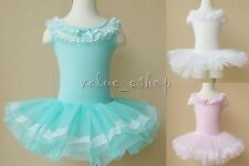Girls Kids Ballet Dance Costume Tutu Party Dress Leotard Skate Tulle Skirt 3-8Y
