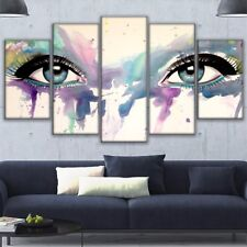 5Pcs Psychedelic Eyes Painting Poster Prints Modern Canvas Wall Art Home Decor
