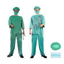 Doctor Costume Mens Scary Bloody Doctor Fancy Dress Halloween Role Play Clothes