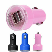 New Bullet Adaptor Dual USB 2-Port Car Charger For iPhone iPod Touch