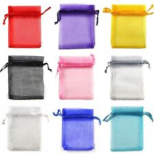 Premium ORGANZA Wedding Favour Gift Bags Jewellery Pouches 7x9cm 6 Colours