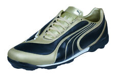 Puma V3.08 TT Mens Leather Astro Turf Soccer Shoes - Black and Gold
