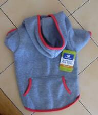 Soft Grey with neon pink trim sweatshirt /HOODIE for your Dog (MEDIUM) New!