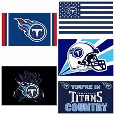 5 STYLES Tennessee Titans Flag Banner NFL Team 3x5 ft Flag High Quality