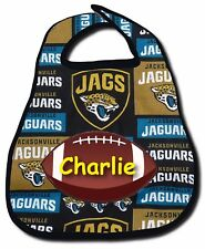 NFL Jacksonville Jaguars Personalized Boy Girl Football Baby Bib Snap Fastener