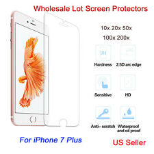 100x Genuine iPhone 7Plus Tempered Glass Screen Protector Easy-install Wholesale
