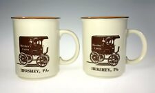 Hershey Pa Cocoa Mugs Milk Delivery Truck Advertising Ceramic Pair