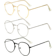 Unisex Mens Womens Oval Clear lens Glasses & Sunglasses Designer Fashion Shades