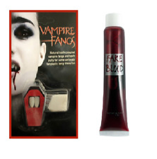 HALLOWEEN VAMPIRE FANGS CAPS TEETH PUTTY DRACULA FANCY DRESS FAKE BLOOD DEVIL