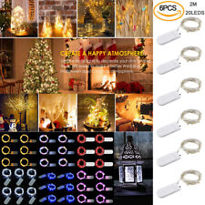 6X 20 LED Copper Wire Fairy String Light Xmas Party Battery Powered Waterproof