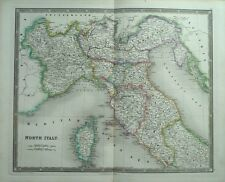 FINE 1831 LARGE ANTIQUE TEESDALE MAP OF NORTH ITALY