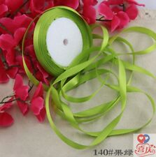 1cm 25 Yards Silk Satin Ribbon Wedding Party Decor Wrapping Christmas Apparel