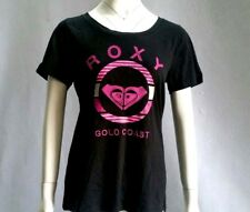 Roxy Ladies Loose Fit S/Sleeve O Neck T Shirt Tee Top Cotton Graphic Print 10