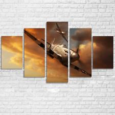 Retro Aircraft Airplane Paintings Abstract Poster Canvas Wall Art Home Decor