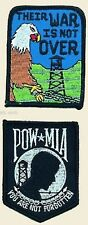 "POW MIA or Their War Is Not Over Patch Emblem Military Motorcycle Biker 3""x2"""