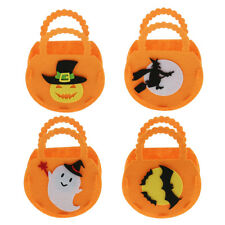 Halloween Candy Bag Bucket Pumpkin Ghost Handbag Goody Bag Kid Costume Trick Toy
