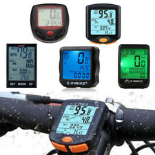 Black Waterproof Bicycle Bike Cycling Wired LCD Computer Odometer Speedometer
