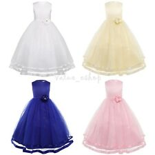 Kid Girl Dress Special Occasion Party Flower Princess Pageant Bridesmaid Wedding