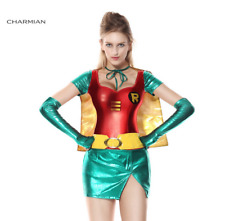 Adult Halloween Costume Women Sexy Robin Super Hero Cosplay Girls Fancy Outfit