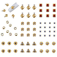 50x Glitter Nail Art Rhinestones Charms Phone Case 3D Tip Sticker Decoration