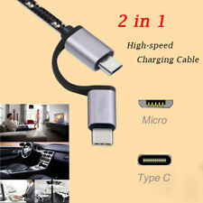 Quick Charging Cord Type C&Micro USB Data Sync Cable For Samsung Galaxy Note 8