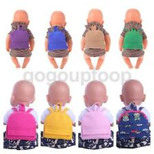 Cute Dolls Bag Shoolbag Backpack Accessories for 17'' 43cm Zapf Baby Born Dolls
