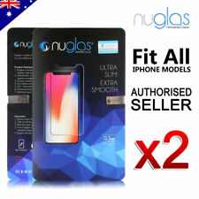 2 X NUGLAS Genuine Tempered Glass Screen Protector for iPhone x 7  7plus 6s plus