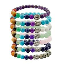 Charming Jewelry Turquoise Crystal Alloy Buddha Beads Bangle Bracelet 1Pc