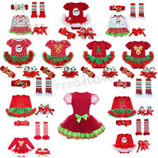 Christmas Baby Girls Party Cake Tutu Dress Romper Skirt Bodysuit Costume Outfits
