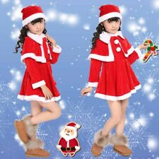 Christmas Kid Dress Clothes Red Santa Claus Girl Boy Party Outfits Xmas Costumes